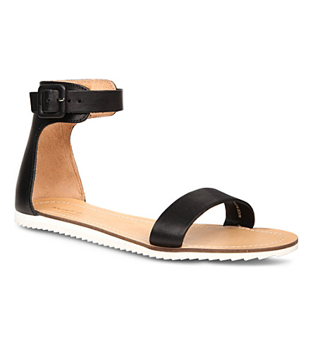 KURT GEIGER LONDON Good Sport leather sandals (Black