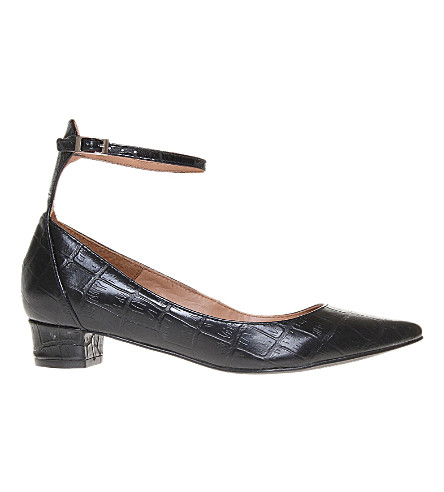 KURT GEIGER LONDON Anais mock-croc courts (Black
