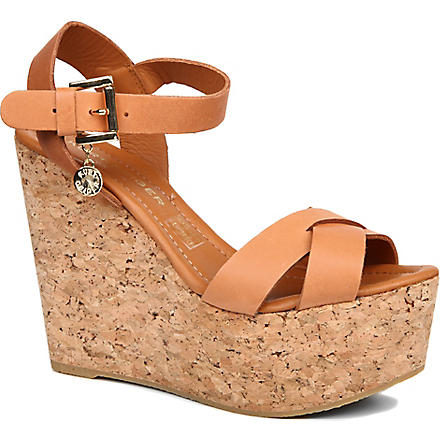 KURT GEIGER Contra wedge sandals (Tan