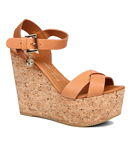 KURT GEIGER LONDON Contra wedge sandals (Tan