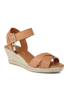 KURT GEIGER Lisbon leather wedge sandals