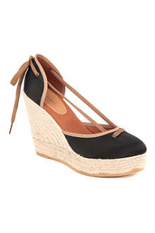 KURT GEIGER Keates raffia wedge sandals