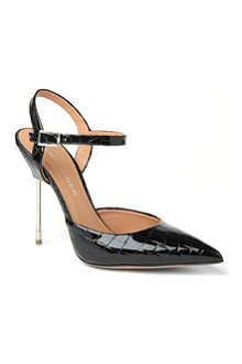 KURT GEIGER Yasmin patent leather sling-back sandals