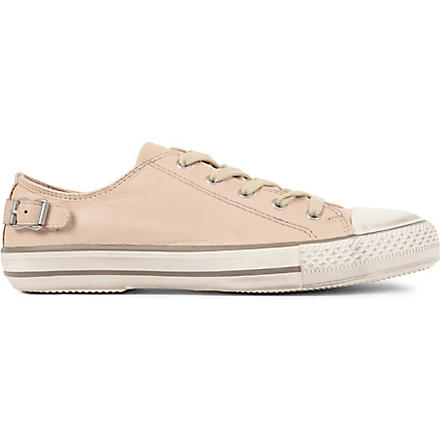 KURT GEIGER Liberty leather trainers (Nude