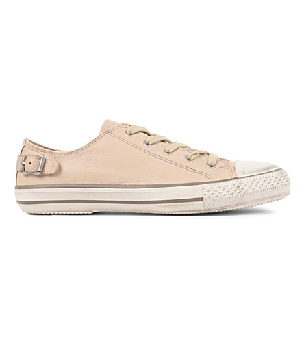 KURT GEIGER LONDON Liberty leather trainers (Nude
