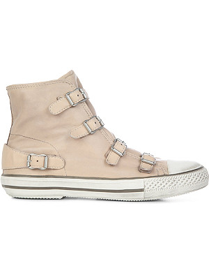 KURT GEIGER LONDON Lizzy leather high-top trainers