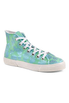 KURT GEIGER London Calling canvas high-top trainers