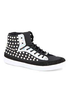 KURT GEIGER Lumiere stud high-top trainers