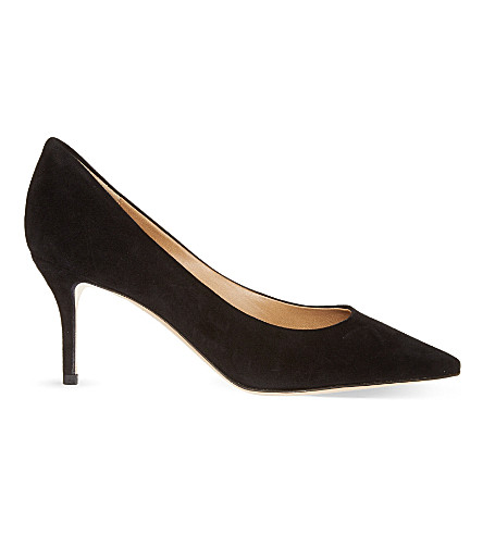 SALVATORE FERRAGAMO Susi suede courts (Black