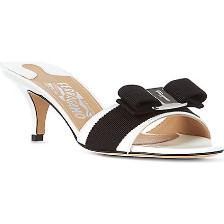 FERRAGAMO Glory 1 leather sandals (White