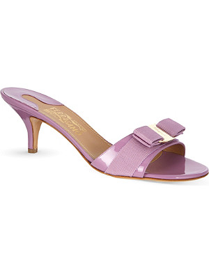 FERRAGAMO Glory I patent leather sandals