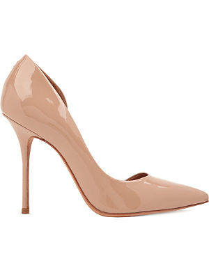 KURT GEIGER Anja patent-leather courts