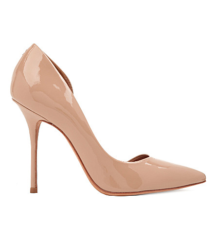 KURT GEIGER Anja patent-leather courts (Nude