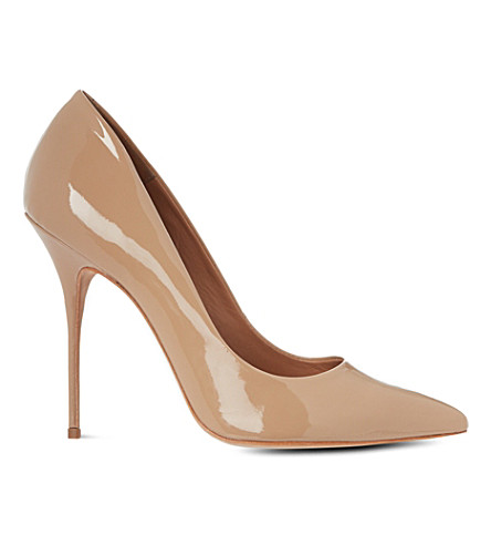 KURT GEIGER LONDON Ellen patent court shoes (Nude
