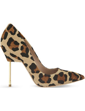KURT GEIGER Britton leopard court shoes