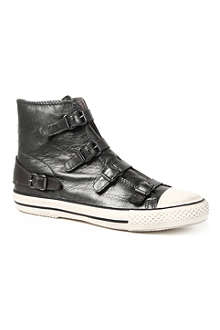 KURT GEIGER Lizzy leather high-top trainers