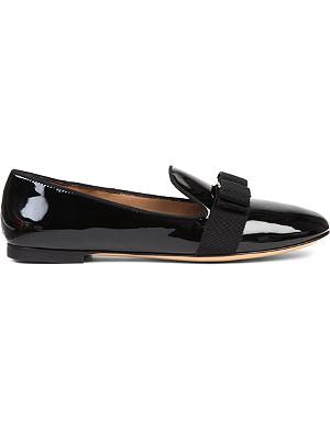 FERRAGAMO Scotty patent loafers