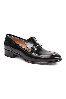 FERRAGAMO Reed leather loafers