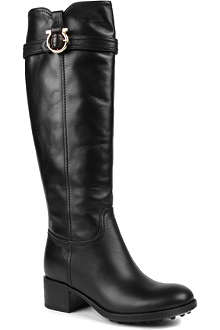 FERRAGAMO Robespierr leather knee-high boots