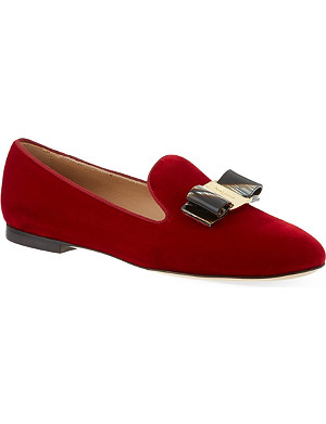 FERRAGAMO Scotty T velvet smoking slipper
