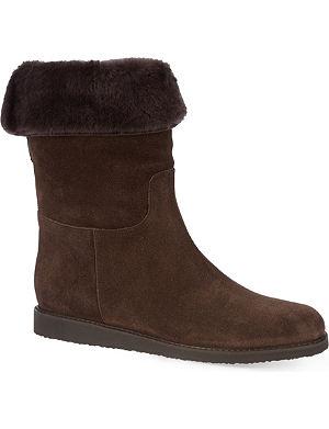 FERRAGAMO Calf-high sheepskin winter boots