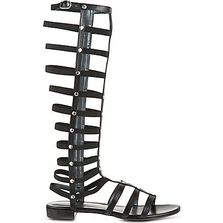 STUART WEITZMAN Knee high gladiator sandals (Black