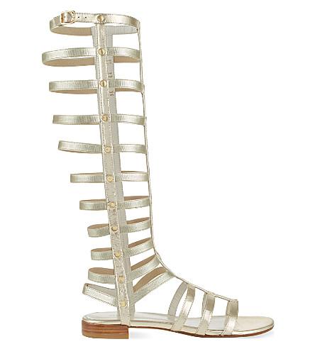 STUART WEITZMAN Gladiator leather sandals (Gold