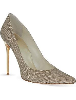 STUART WEITZMAN Nouveau glittered court shoes