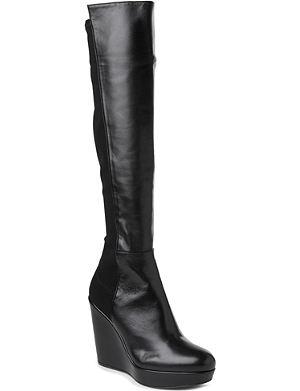STUART WEITZMAN Demi leather knee-high boots