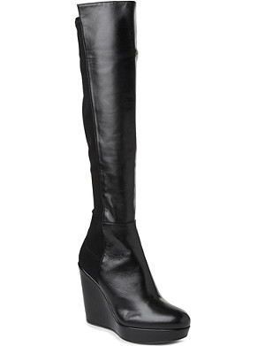 STUART WEITZMAN Demi leather knee-high boots
