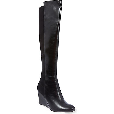 STUART WEITZMAN Demi leather knee boots (Black