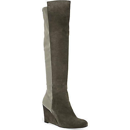 STUART WEITZMAN Demi soon suede knee-high boots (Taupe