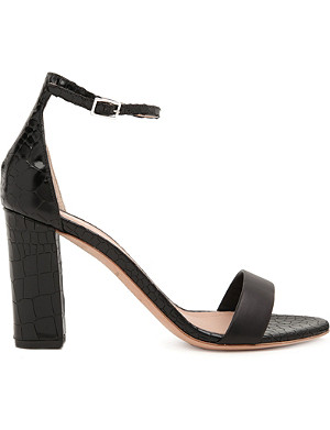 KURT GEIGER LONDON Isabella mock-croc leather sandals