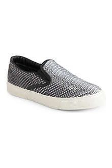 KURT GEIGER London leather plimsoles