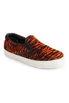 KURT GEIGER London calf hair plimsoles