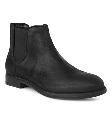 KURT GEIGER LONDON Sadler leather Chelsea boots (Black