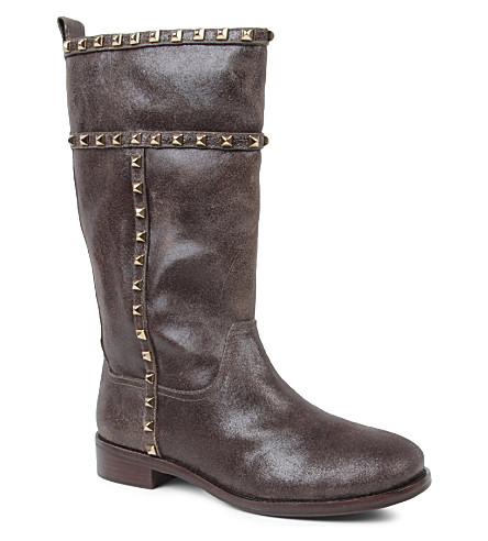 TORY BURCH Shauna calf boots (Grey