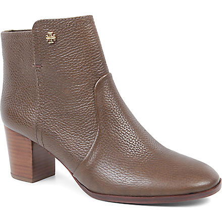TORY BURCH Sabe leather ankle boots (Grey