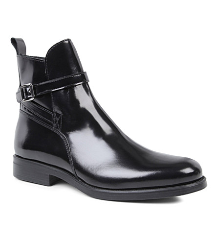 KURT GEIGER Sutherland leather ankle boots (Black