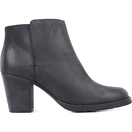 KURT GEIGER Soda leather ankle boots (Black