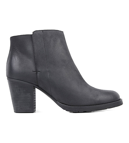 KURT GEIGER LONDON Soda leather ankle boots (Black