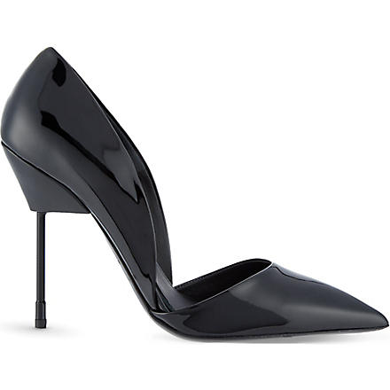 KURT GEIGER Bond patent leather courts (Black