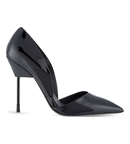 KURT GEIGER LONDON Bond patent leather courts (Black