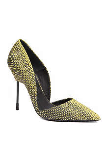 KURT GEIGER Bond snake-print court shoes