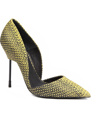 KURT GEIGER Bond snake-print court shoes