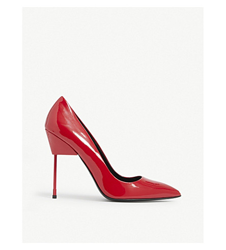 KURT GEIGER LONDON Britton patent-leather courts (Red