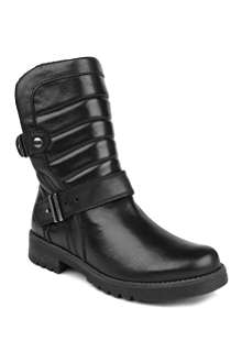 KURT GEIGER Abingdon leather biker boots