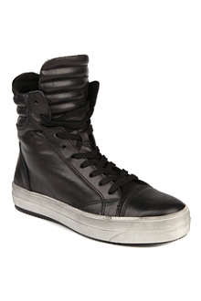 KURT GEIGER Ace leather high-top trainers