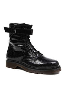 KURT GEIGER Steell leather biker boots