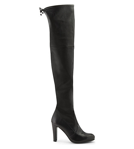 STUART WEITZMAN Highland leather over-the-knee boots (Black